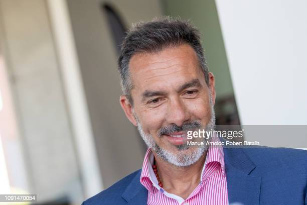 Gustavo Mastosas smiles during his presentation as Costa Rica's new Coach January 08 2019 in San Jose Costa Rica