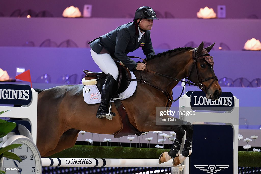 Gustavo Mirabal from Venezuela rides G and C Leroy at the Sea Cost Prize as part of the Gucci Paris Masters 2014 on December 5, 2014 in Villepinte, France.