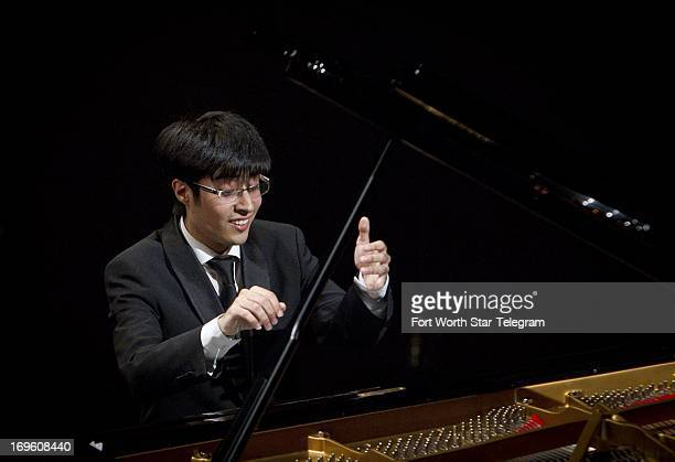 Gustavo MirandaBernales of Chile performs during the 14th Van Cliburn International Piano Competition at the Bass Performance Hall in Fort Worth...