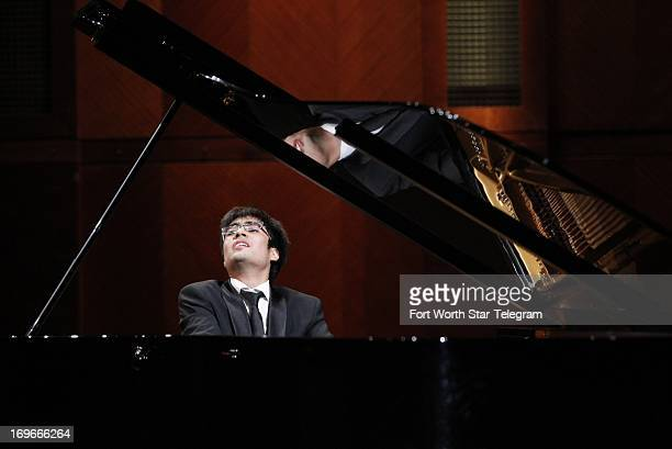 Gustavo MirandaBernales of Chile performs during the final day of the preliminary round of the 14th Van Cliburn International Piano Competition in...