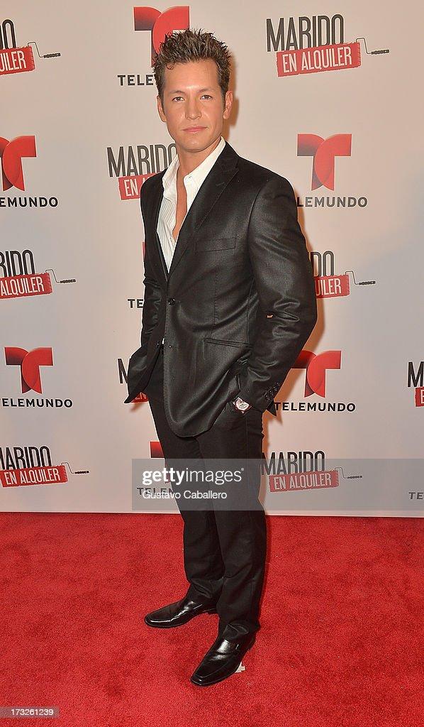 Gustavo Pedraza attends Telemundos 'Marido en Alquiler' Presentation on July 10, 2013 in Miami, Florida.