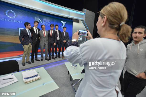 Gustavo Petro presidential candidate is photographed by his wife Veronica Alcocer Garcia in a break during the 2018 Americas Initiative Presidential...