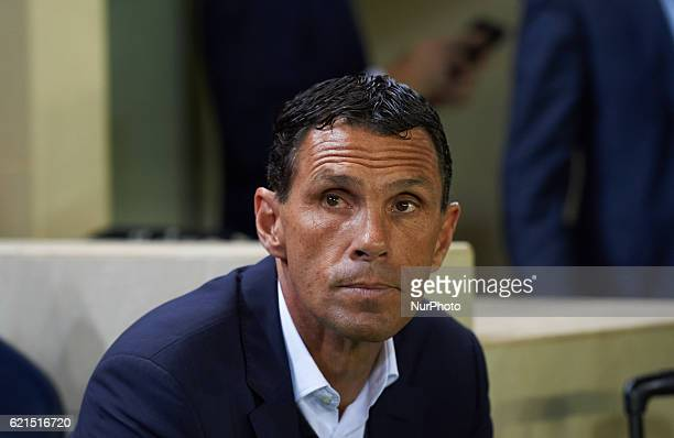 Gustavo Poyet head coach of Real Betis looks on prior the Spanish League 2016/17 match between Villarreal CF and Real Betis, at El Madrigal Stadium...