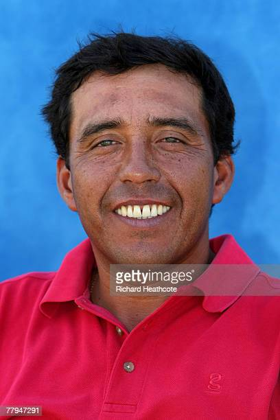 Gustavo Rojas of Argentina poses for a portrait after the first round of the European Tour Qualifying School Final Stage at The San Roque Club on 15...