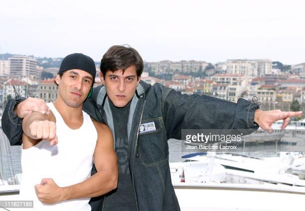 Gustavo Vega and Andres Salazar during Midem 2003 Gustavo Vega and Andres Salazar Photocall at Palais des Festivals in Cannes France