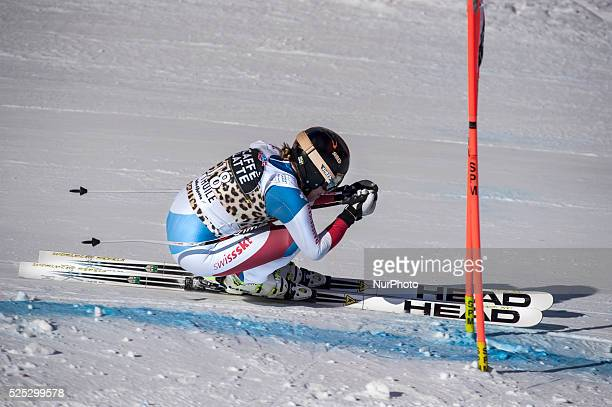 Gut Lara -Sui-AUDI FIS SKI WORLD CUP- La Thuile-Valle D'Aosta 8th Ladies' downhill- on 19th February, 2016.