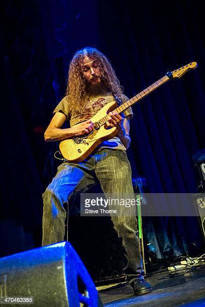 Guthrie Govan of The Aristocrats performs on stage at the Assembly on February 19 2014 in Leamington Spa United Kingdom