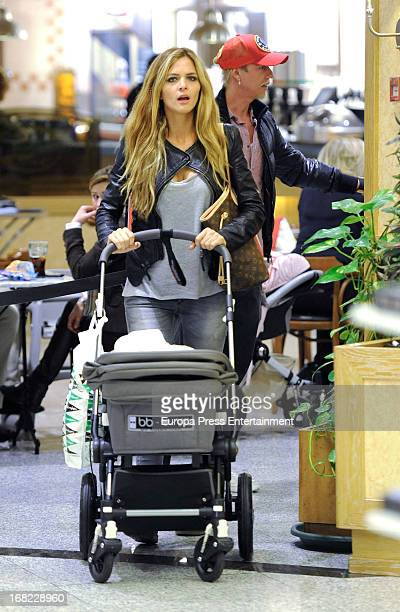 Guti and Romina Belluscio are seen on March 19 2013 in Madrid Spain