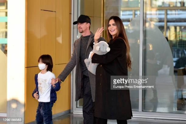 Guti and Romina Belluscio present their newborn child Romeo on January 13, 2021 in Madrid, Spain.