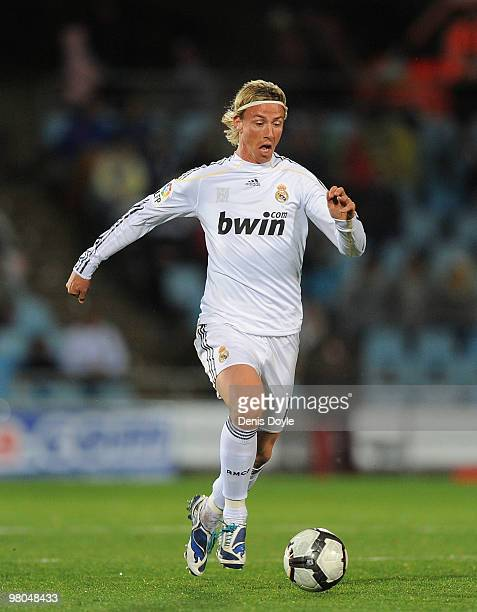 Guti of Real Madrid in action during La Liga match between Getafe and Real Madrid at the Coliseum Alfonso Perez stadium on March 25 2010 in Getafe...