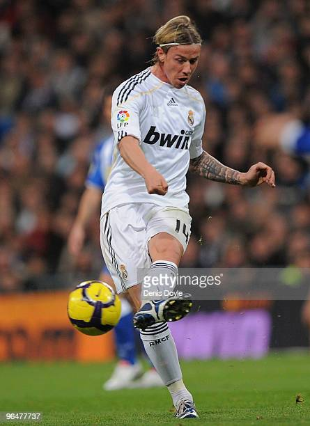 Guti of Real Madrid in action during the La Liga match between Real Madrid and Espanyol at Estadio Santiago Bernabeu on February 6, 2010 in Madrid,...