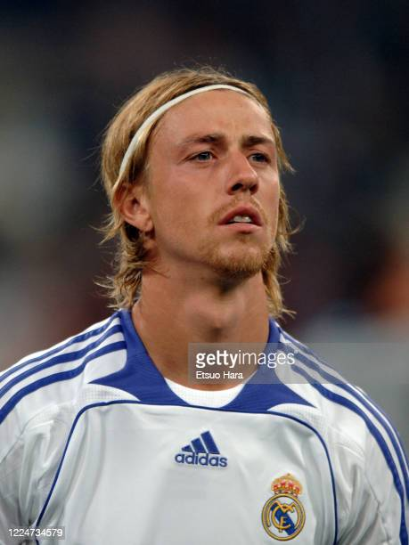 Guti of Real Madrid is seen prior to the UEFA Champions League Group C match between Real Madrid and Olympiacos at the Estadio Santiago Bernabeu on...