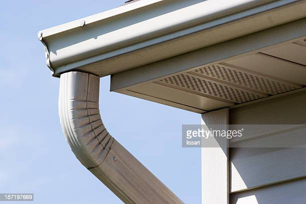 gutter - eaves stock photos and pictures