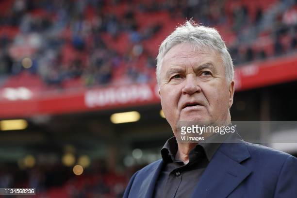Guus Hiddink during the Dutch Eredivisie match between Ajax Amsterdam and PSV Eindhoven at the Johan Cruijff Arena on March 31, 2019 in Amsterdam,...