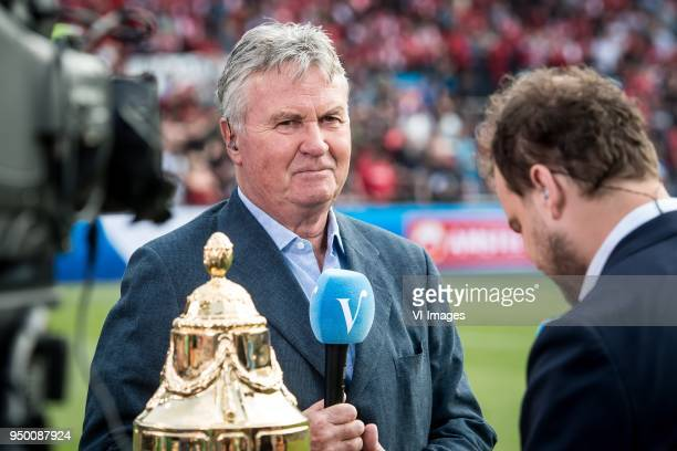 Guus Hiddink during the Dutch Toto KNVB Cup Final match between AZ Alkmaar and Feyenoord on April 22 2018 at the Kuip stadium in Rotterdam The...