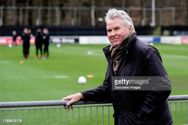 Guus Hiddink during the Training PSV at the PSV Campus De Herdgang on January 14, 2020 in Eindhoven Spain