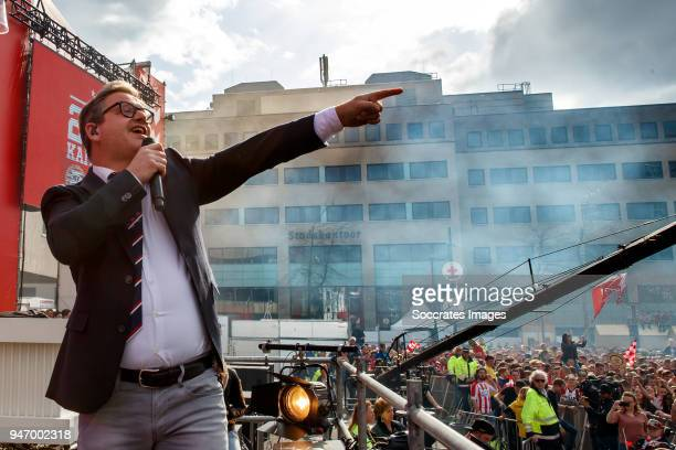 Guus Meeuwis during the PSV Championship celebration at the City hall on April 16 2018 in Eindhoven Netherlands