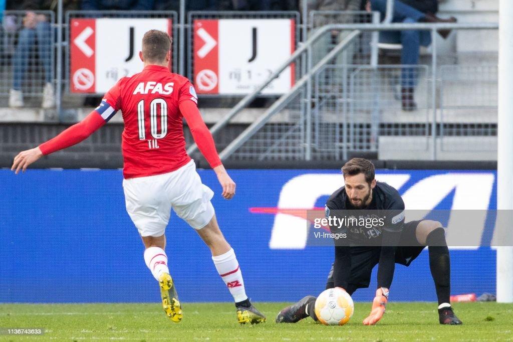 Guus Til Of Az Ado Den Haag Goalkeeper Robert Zwinkels During The News Photo Getty Images