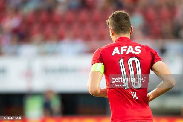 Guus Til of AZ , back, number 10 during the UEFA Europa League second round qualifying match between AZ Alkmaar and FC Kairat at the AFAS stadium on...