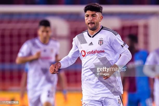 Guven Yalcin of Besiktas JK during the Turkish Spor Toto Super Lig match between Trabzonspor AS and Besiktas AS at the Senol Gunes stadium on...