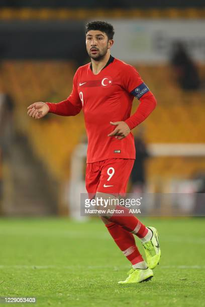 Guven Yalcin of Turkey u21s during the UEFA Euro Under 21 Qualifier match between England U21 and Turkey U21 at Molineux on October 13, 2020 in...