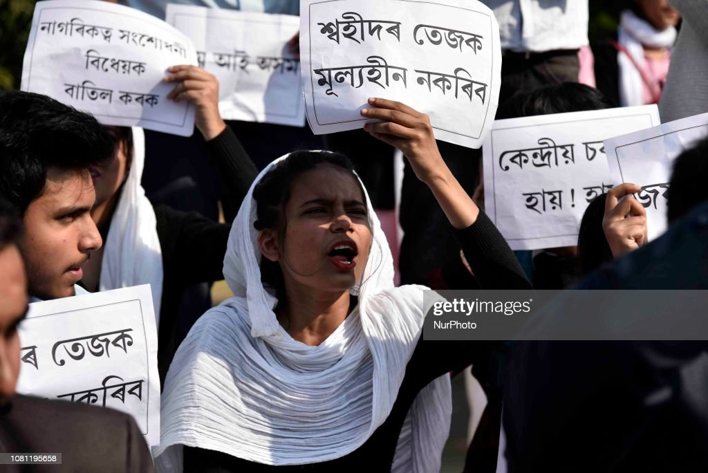 Students Protest Against Citizenship Bill : News Photo