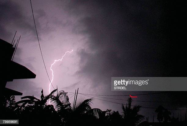 Heavy thunder strikes over Guwahati the capital city of Indias northeastern state of Assam late 23 April 2007 announcing the onset of the rains...