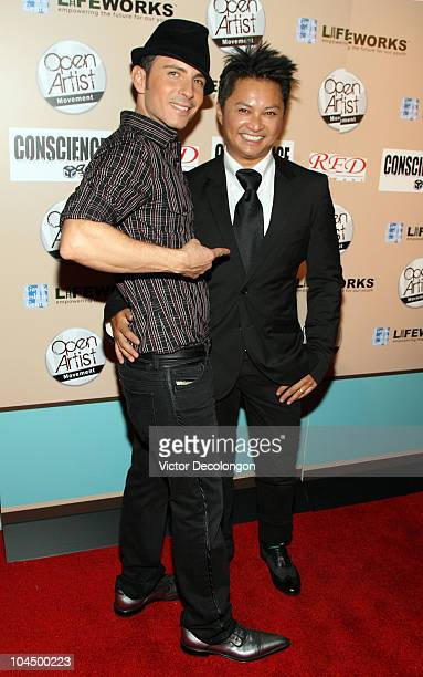 Guy B and Alec Mapa arrives at We Are Golden Benefit Concert at Arena Nightclub on September 27 2010 in Los Angeles California
