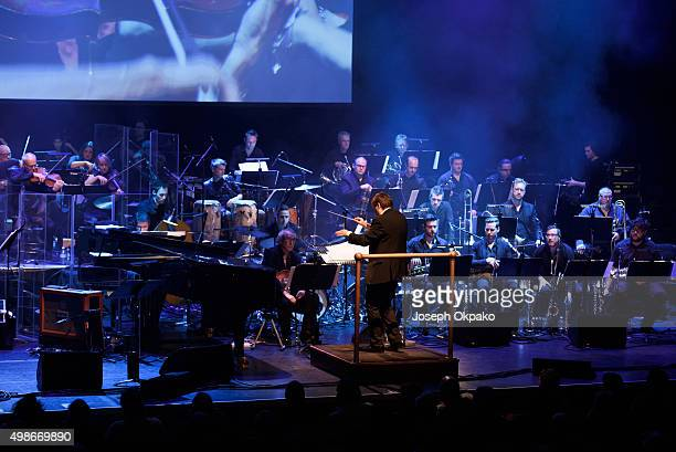 Guy Baker performs at Barbican Centre as part of the Jazz Festival opening gala with the magnificent 42-piece EFG London Jazz Festival orchestra on...