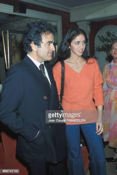 Guy Béart avec la chanteuse et actrice Anne Marie Besse circa 1970 France
