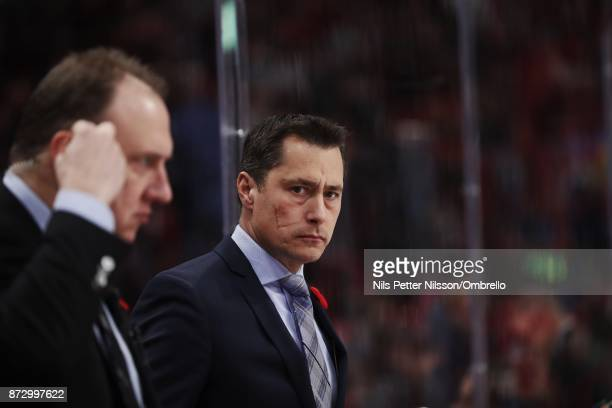 Guy Boucher head coach of Ottawa Senators during the 2017 SAP NHL Global Series match between Colorado Avalanche and Ottawa Senators at Ericsson...