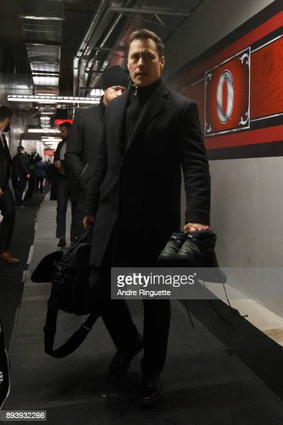 Guy Boucher head coach of the Ottawa Senators arrives at the rink prior to the 2017 Scotiabank NHL100 Classic at Lansdowne Park on December 16 2017...