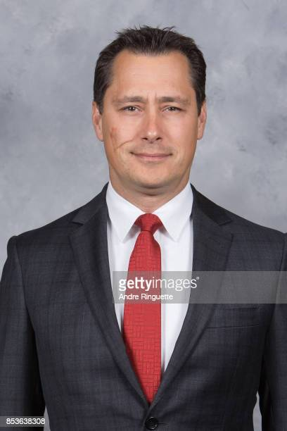 Guy Boucher of the Ottawa Senators poses for his official headshot for the 20172018 season on September 14 2017 at Canadian Tire Centre in Ottawa...