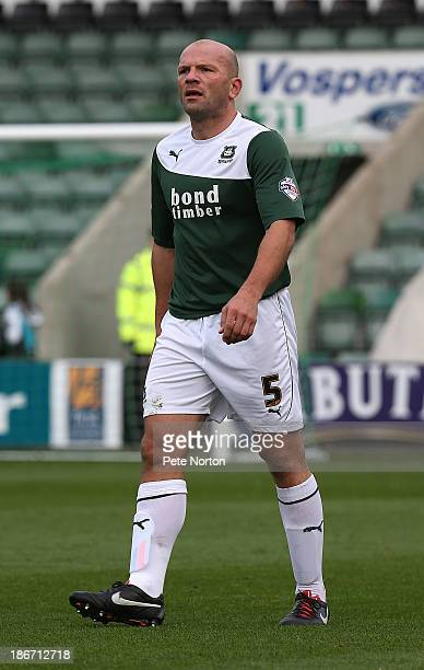Guy Branston of Plymouth Argyle in action during the Sky Bet League Two match between Plymouth Argyle and Northampton Town at Home Park on November 2...