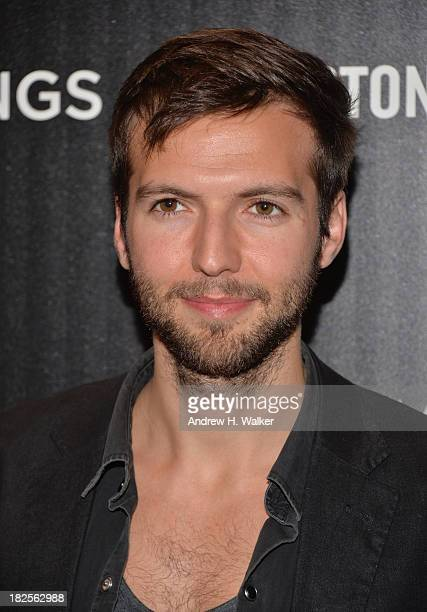 Guy Burnet attends The Cinema Society and Johnston Murphy screening of Sony Pictures Classics' Kill Your Darlings at Paris Theater on September 30...