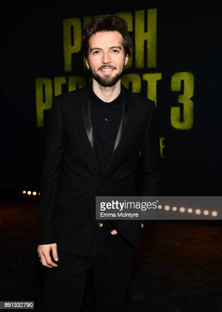 Guy Burnet attends the premiere of Universal Pictures' 'Pitch Perfect 3' at Dolby Theatre on December 12 2017 in Hollywood California