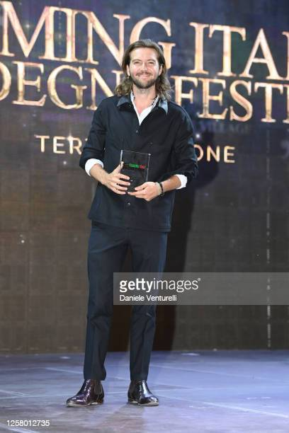Guy Burnet attends the third day of Filming Italy Sardegna Festival at Forte Village Resort on July 24, 2020 in Santa Margherita di Pula, Italy.
