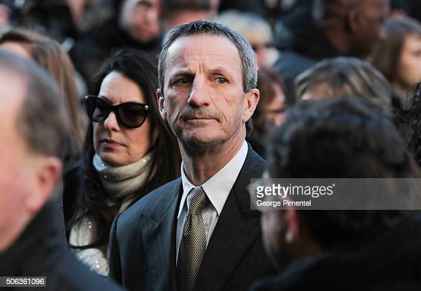 Guy Carbonneau attends the State Funeral Service for Celine Dion's husband Rene Angelil at NotreDame Basilica on January 22 2016 in Montreal Canada