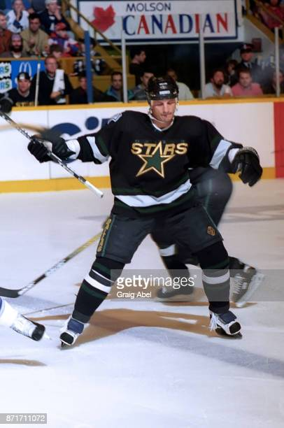 Guy Carbonneau of the Dallas Stars skates against the Toronto Maple Leafs during NHL game action on March 15 1996 at Maple Leaf Gardens in Toronto...