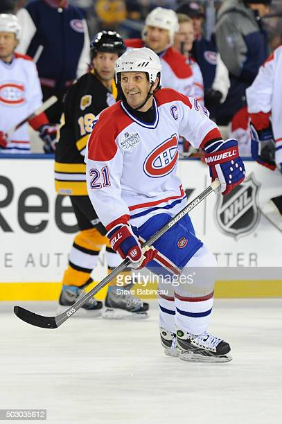 Guy Carbonneau of the Montreal Canadiens skates against the Boston Bruins during the alumni game December 31 2015 during 2016 Bridgestone NHL Winter...