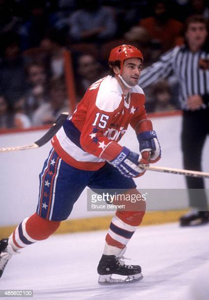 Guy Charron of the Washington Capitals skates on the ice during an NHL game against the Philadelphia Flyers on December 21 1980 at the Spectrum in...