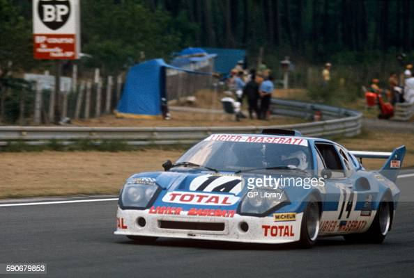 14 guy chasseuil and michel leclere ligier js2 maserati at le mans photo d 39 actualit getty. Black Bedroom Furniture Sets. Home Design Ideas
