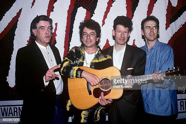 Guy Clark Joe Ely Lyle Lovett and John Hiatt at the Symphony Space in New York City on May 17 1991