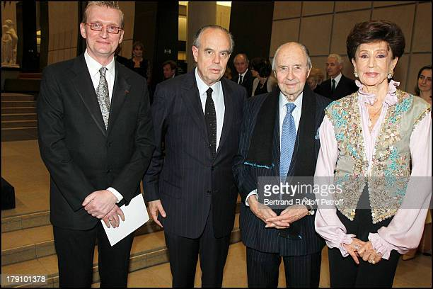 Guy Cogeval Frederic Mitterrand Comte Edouard De Ribes and wife Comtesse Jacqueline De Ribes at The Private View Of The Exhibition Manet Inventor Of...
