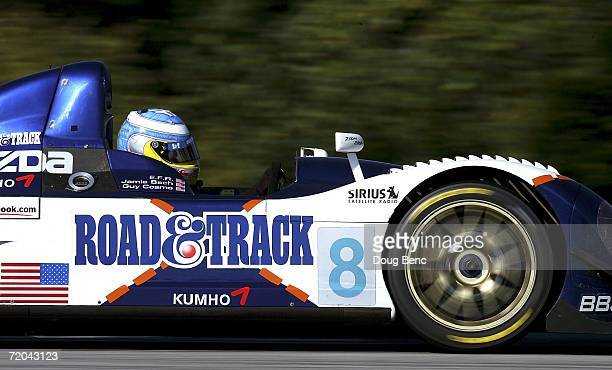 Guy Cosmo drives the B-K Motorsports Courage C65 Mazda during practice for the American Le Mans Series Petit Le Mans at Road Atlanta on September 29,...