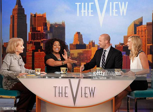 THE VIEW Guy Day Friday with cohost Elisabeth Hasselbeck's husband Tim Hasselbeck actors Paul Rudd and Ed Asner Mario's Time of the Month featuring...