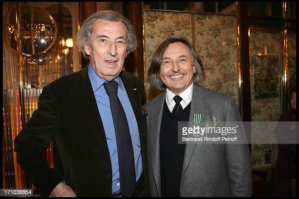 Guy De Rougemont Pierre Passebon at Pierre Passebon Is Honoured With The Rank Of Chevalier Des Arts Et Lettres At His Galerie Du Passage In Paris