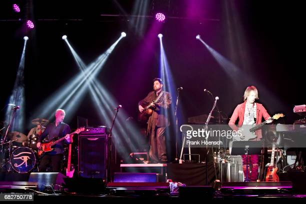 Guy Erez Alan Parsons and Dan Tracey of Alan Parsons Live Project perform live on stage during a concert at the Columbiahalle on May 13 2017 in...