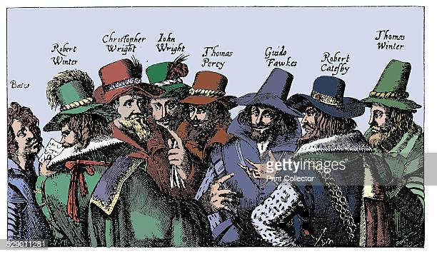 Guy Fawkes and the Gunpowder Plotters 1605 Roman Catholic conspiracy to blow up English Houses of Parliament on 5 November 1605 when James I due to...