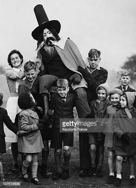Guy Fawkes Day Getting Ready For The Big Bang At Aldersbrook In United Kingdom On 1947